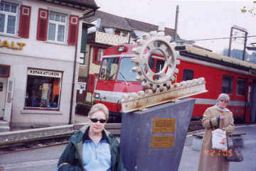 Appenzell railroad cog. Photo by Tom Keating April, 2005