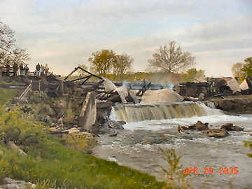 Bridgeton CB fire photo by Cathy Harkrider, May 28, 2005