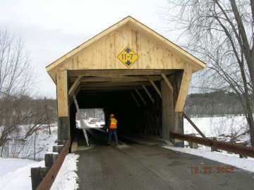 Depot Bridge, Pittsford, Vt. VAOT Photo, December, 2005