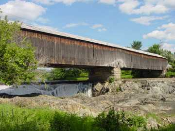 Haverhill-Bath Covered Bridge. Photo submitted by Sean T. James 8-14-02