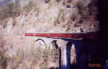 Landwasser Viaduct. Photo by Lisette Keating April, 2005
