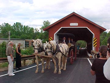 Paper Mill Bridge on Dedication Day: Photo by David Guay, 7/13/00