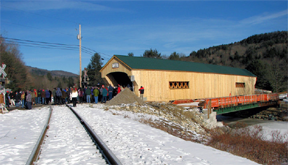 The new Bartonsville covered bridge