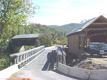 New N. Hartland Bridge. Photo by Tom Chase October 9, 2001