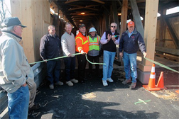 Pulp Mill covered bridge opening