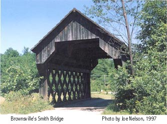 Smith Bridge at Brownsville. Photo by Joe Nelson Aug 5, 1997