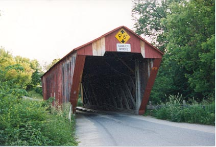 Cooley Covered Bridge, Pittsford: Photo by Richard E. St.Peter