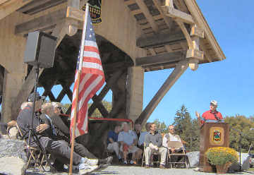 Erwin Park Covered Bridge dedication.
