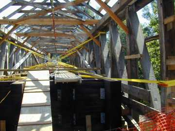 Union Village Bridge Rehabilitation. Photo by Joe Nelson, Aug.1, 2002