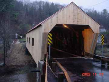 Union Village Bridge Rehabilitation. Photo by Tom Chase, Nov.13, 2002